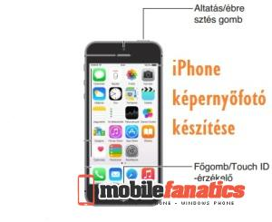 iphone képernyőfotó