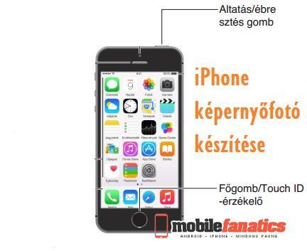 iPhone képernyőfotó készítése