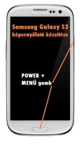 Samsung Galaxy S3 képernyőmentés