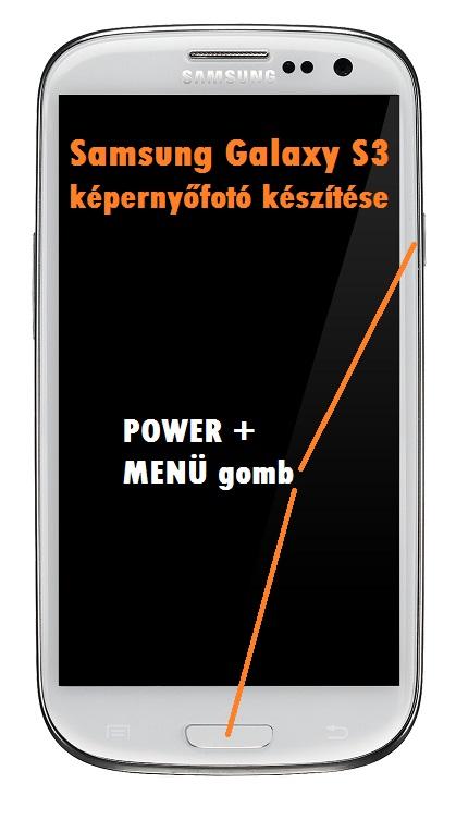 Samsung Galaxy S3 képernyőfotó készítése