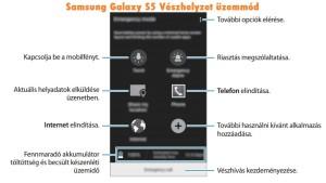 Samsung Galaxy A5 Vészhelyzet üzemmód