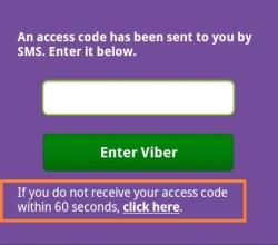 viber nem küld kódot