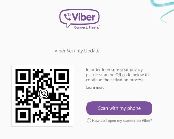 Viber PC QR aktiválás