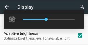 android 5.0 alkalmazkodó fényerő