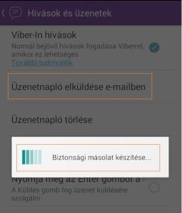 Viber üzenetek visszaállítása