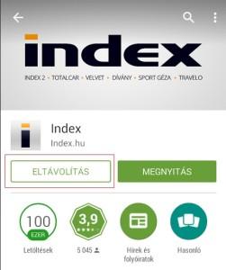 Android alkalmazások törlése Google Play