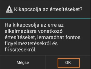 android értesítések
