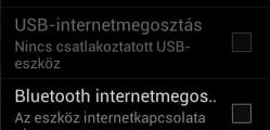 Samsung Galaxy internet megosztás