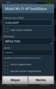 Samsung Galaxy wifi beállítás