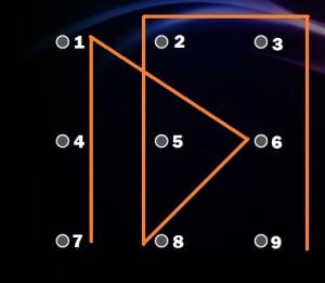 bonyolult képernyőzár minta