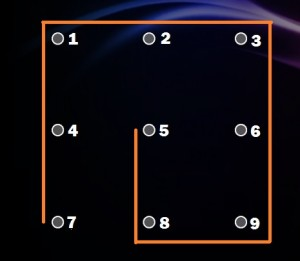 Képernyőzár minták labirintus forma