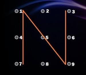 Képernyőzár minták N forma
