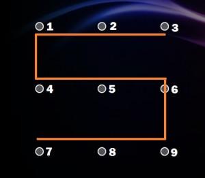 Képernyőzár minták S forma