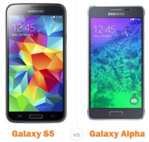 Samsung Galaxy Alpha vs S5