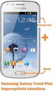 Samsung Galaxy Trend Plus képernyőfotó készítése