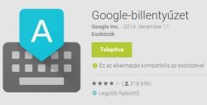 Android billentyűzet beállítása