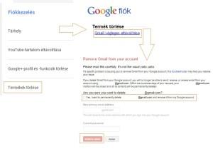 gmail fiók törlés