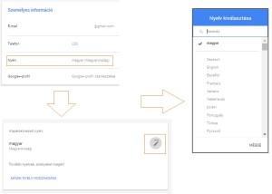 gmail nyelv beállítása