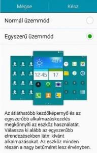Samsung Galaxy S6 egyszerű mód
