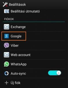 Android Google fiók eltávolítása