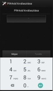 Képernyőzár PIN kód