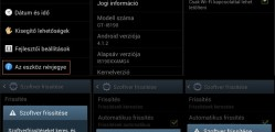 Samsung Galaxy S Advance szoftverfrissítés