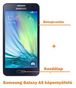 Samsung Galaxy A3 képernyőfotó