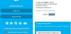 Skype regisztráció Facebook fiókkal
