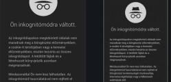 Inkognitó mód Chrome böngészőben
