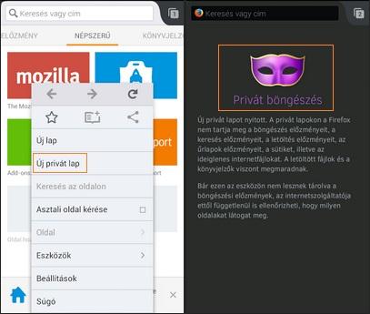 Inkognito Firefox