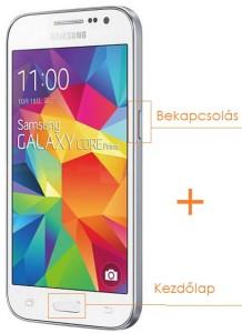 Samsung Galaxy Core Prime képernyőfotó készítése