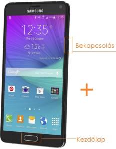 Samsung Galaxy Note 4 képernyőfotó készítés