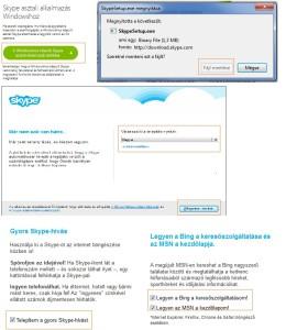 Skype telepítése, letöltése számítógépekre