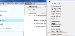 Skype nyelv beállítás lépései