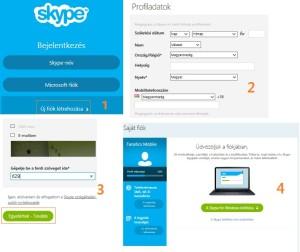 Skype regisztráció lépései