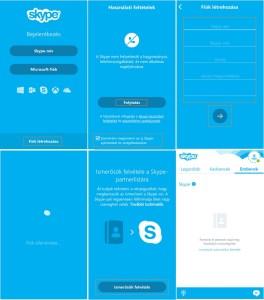 Skype regisztráció androidra