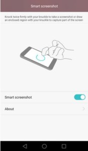Huawei P8 képernyőfotó Intelligens asszisztens