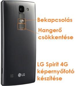 LG Spirit képernyőfotó készítése