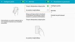 Samsung Galaxy A5 mozdulatok és gesztusok