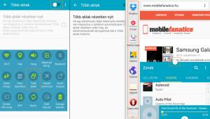 Samsung Galaxy A5 Több ablak opció