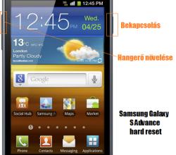 Samsung Galaxy S Advance hard reset