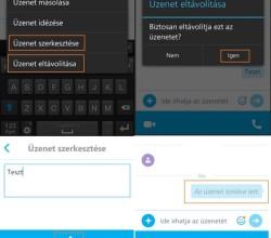 Skype üzenetek törlése telefonról