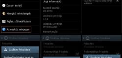 Samsung Galaxy S3 szoftverfrissítés