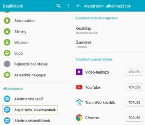Android alapértelmezett alkamazás törlése