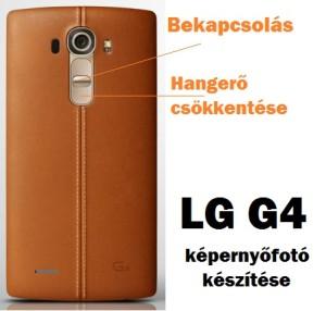 LG G4 képernyőfotó készítése