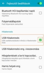 USB hibakeresés kikapcsolása