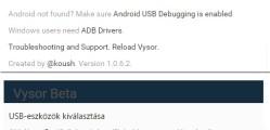 Android képernyőmegosztás PC-re