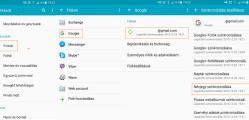 Android névjegyek szinkronizálása Google fiókkal