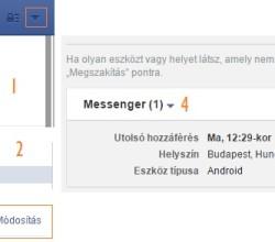Facebook Messenger kijelentkezés lépései