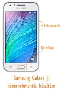 Samsung Galaxy J1 képernyőmentés készítése